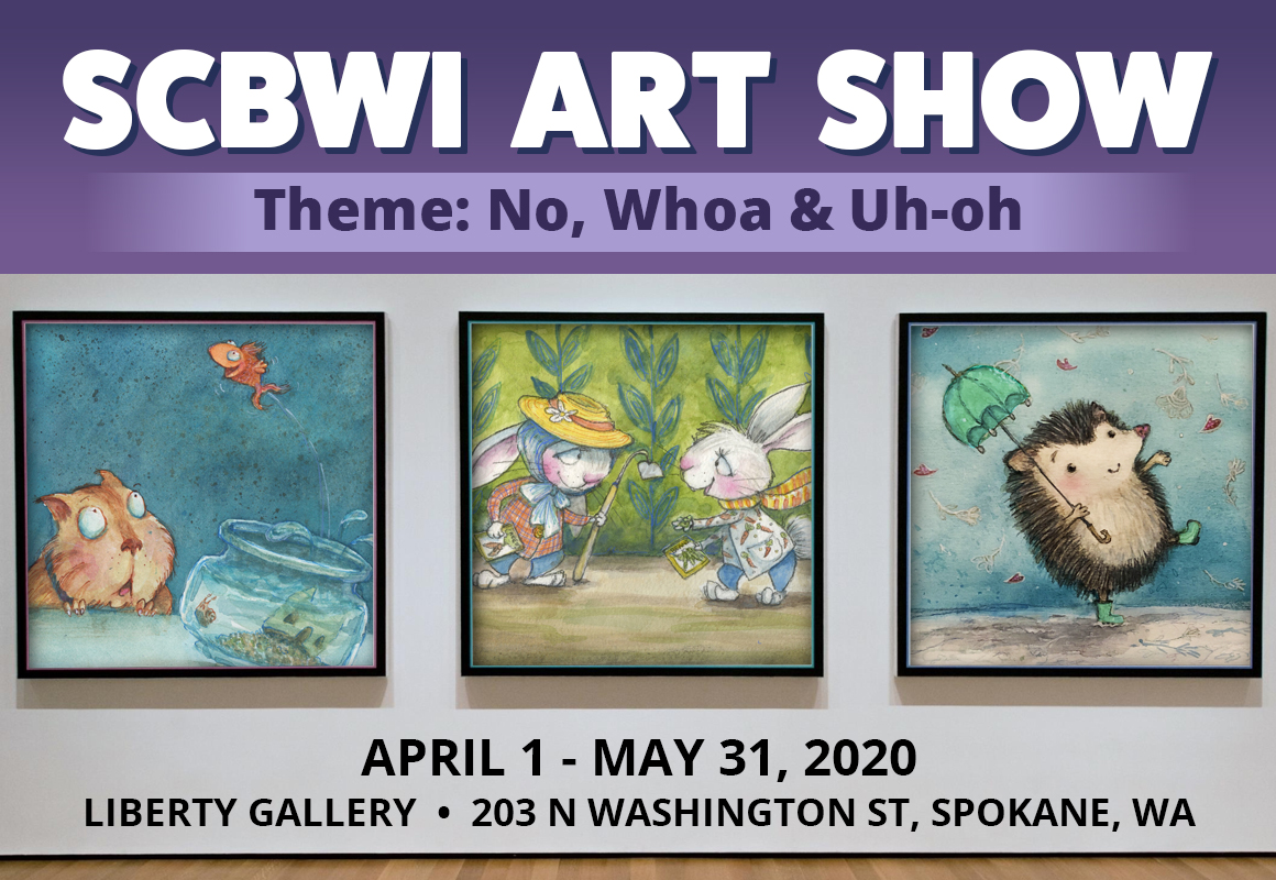 SCBWI Art show 2020 slider
